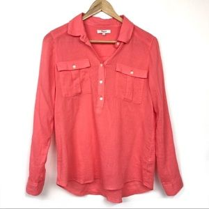 Madewell Top Blouse Shirt Coral Size S